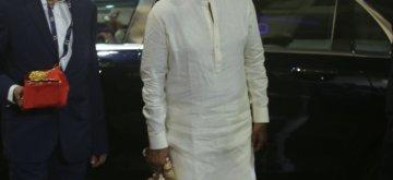 Mumbai: Actor Rajinikanth at the wedding ceremony of industrialist Mukesh Ambani's daughter Isha Ambani and Anand Piramal at Antilia in Mumbai on Dec 12, 2018. (Photo: IANS)