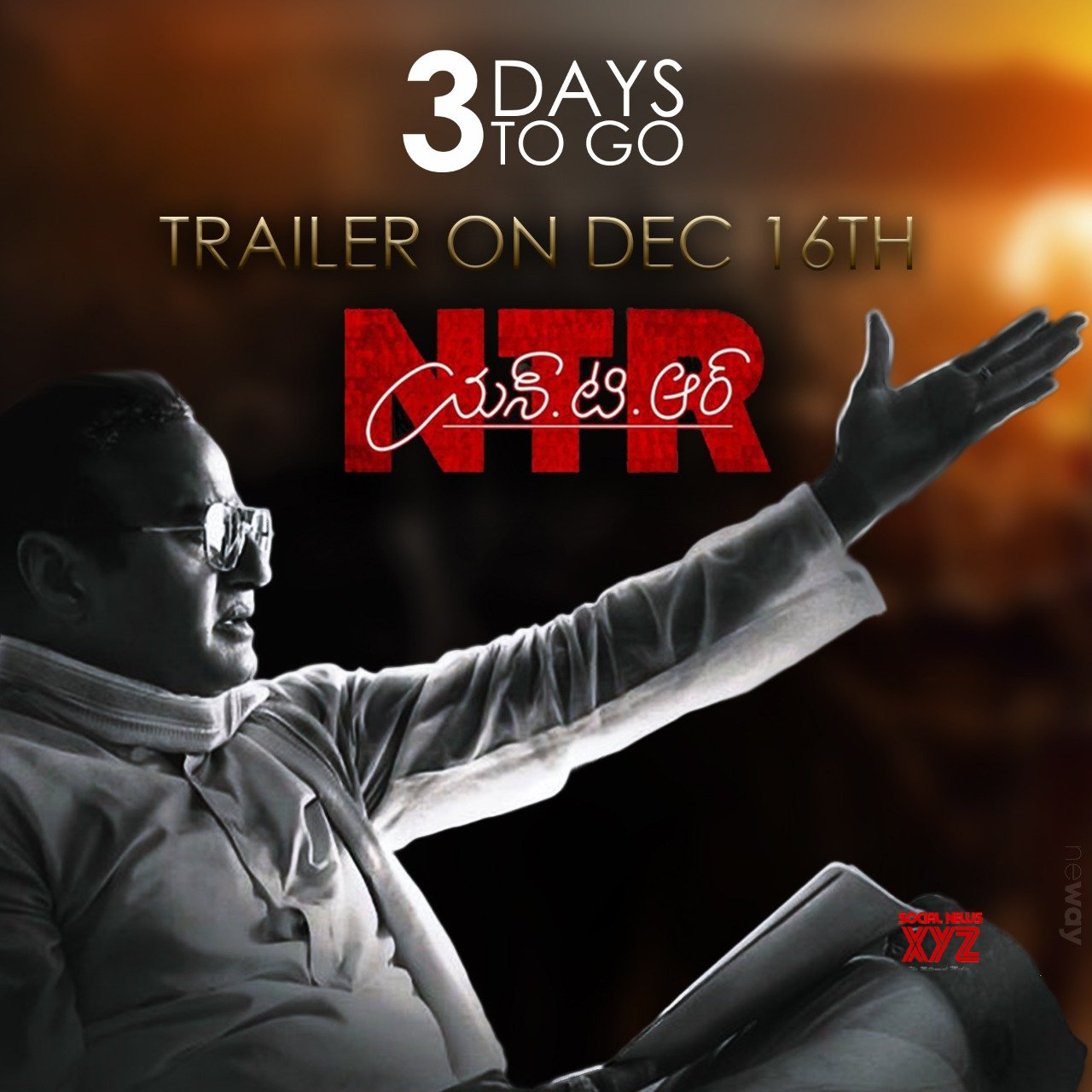 NTR Biopic Theatrical Trailer 3 Days To Go Poster