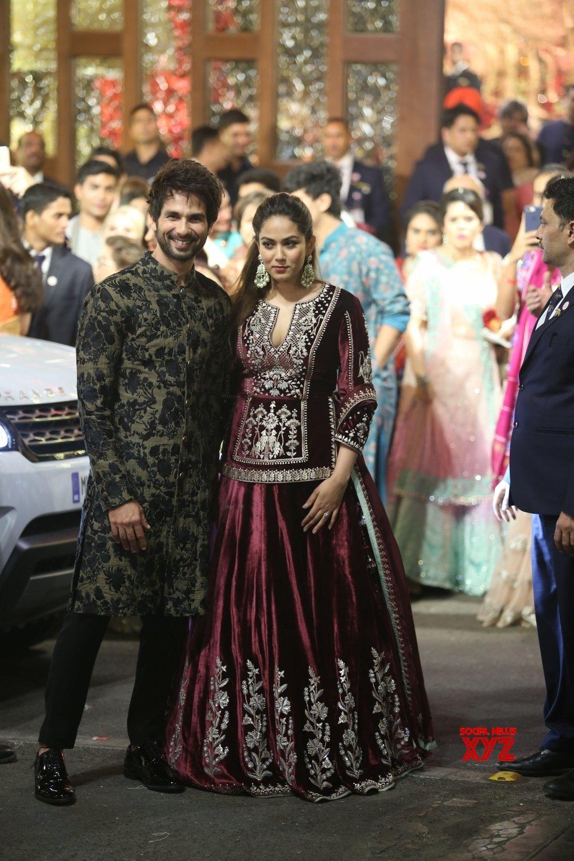 Mumbai: Shahid Kapoor and his wife Mira Rajput at Isha Ambani & Anand Piramal's wedding  #Gallery