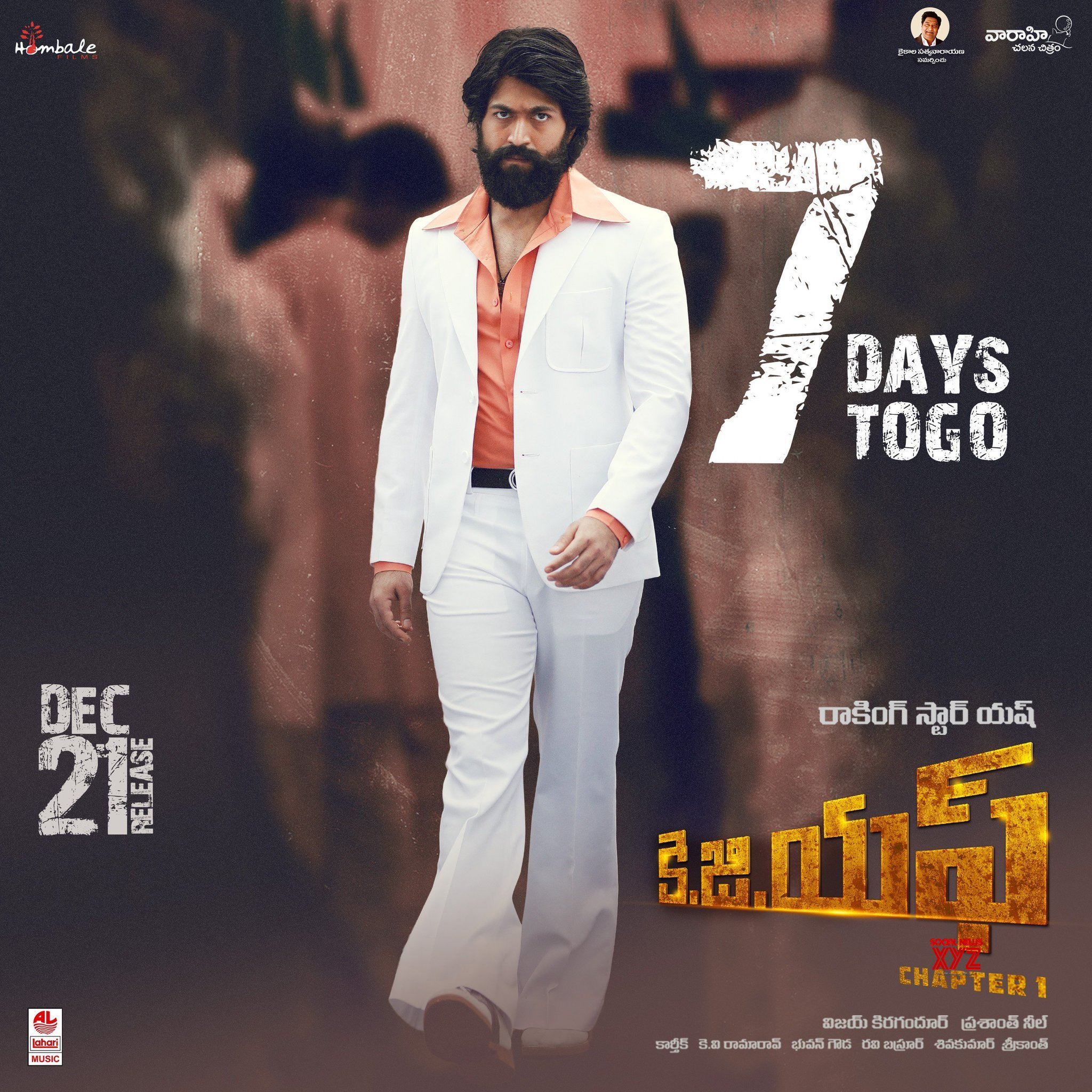 KGF Movie 7 Days To Go Poster