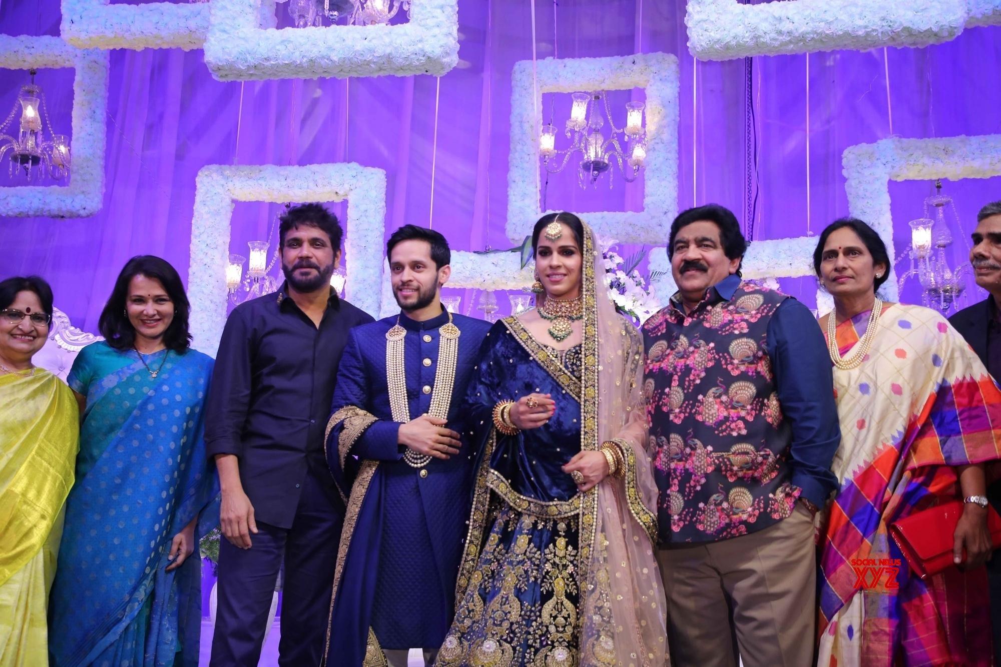 Hyderabad: - Wedding reception of Saina Nehwal and Parupalli Kashyap #Gallery