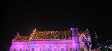 Amritsar: A view of the illuminated St Paul's Church ahead of Christmas celebrations in Amritsar, on Dec 23, 2018. (Photo: IANS)