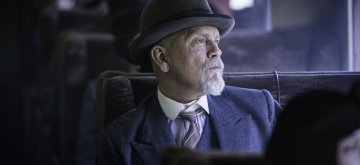 THE ABC MURDERS (Episode 1)John Malkovich as Hercule PoirotIt's 1933 and a killer travels the length and breadth of Britain via the ominous rumble of the train tracks. They strike in a methodical pattern, leaving a copy of the ABC Railway Guide at the scene of each murder. As Poirot attempts to investigate he is thwarted on every front. If he is to match his most cunning nemesis, everything about him will be called into question; his authority, his integrity, his past, his identity.