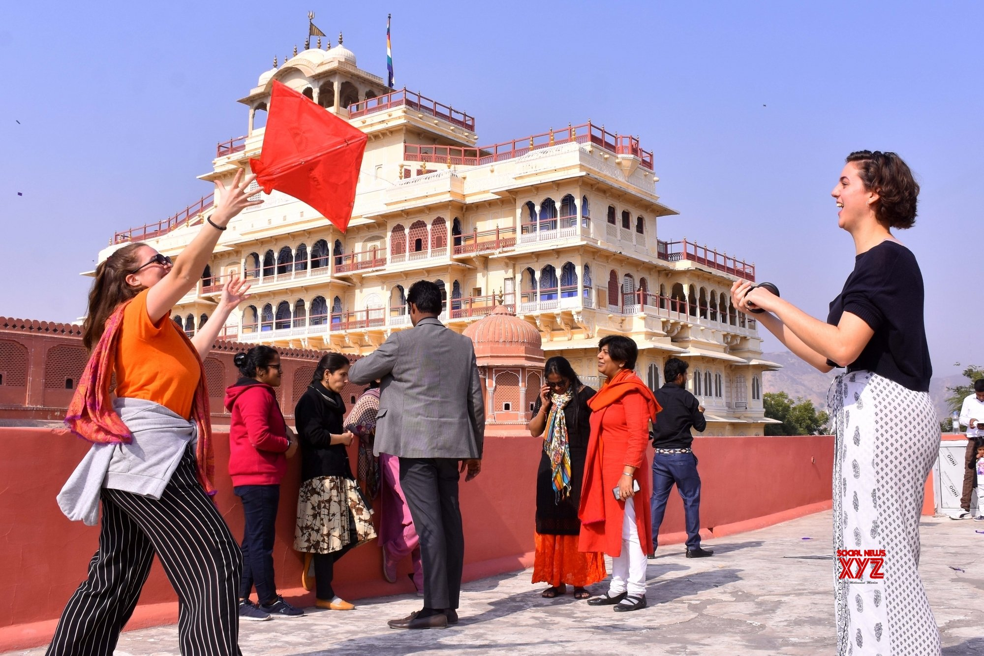 Jaipur: Tourists fly kites ahead of Makar Sankranti #Gallery