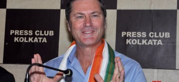 Kolkata: Former Australian cricket umpire Simon Taufel addresses a press conference in Kolkata, on Jan 14, 2019. (Photo: Kuntal Chakrabarty/IANS)