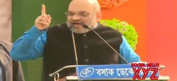 Malda: BJP chief Amit Shah addresses a party rally in Malda, West Bengal on Jan 22, 2019. (Photo: IANS/BJP)