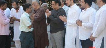 Mumbai: Actor Govinda attends nephew Janwendra Ahuja's funeral in Mumbai on Jan 24, 2019. (Photo: IANS)