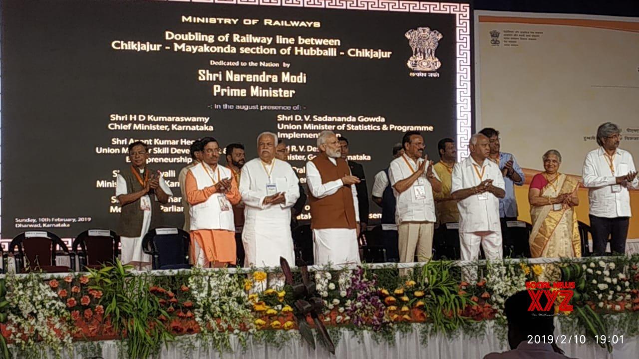 Modi flags off development projects in Karnataka