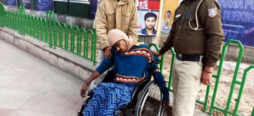 New Delhi: A physically challenged man from Andhra Pradesh identified as D. Arjun Rao (40) who allegedly committed suicide near the AP Bhavan where Chief Minister N. Chandrababu Naidu undertook a 12-hour fast demanding special category status to the state, in New Delhi on Feb 11, 2019. (Photo: IANS)
