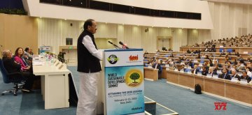 New Delhi: Vice President M. Venkaiah Naidu addresses at the inaugural session of the World Sustainable Development Summit 2019, organised by The Energy and Resources Institute (TERI), in New Delhi on Feb 11, 2019. (Photo: IANS/PIB)