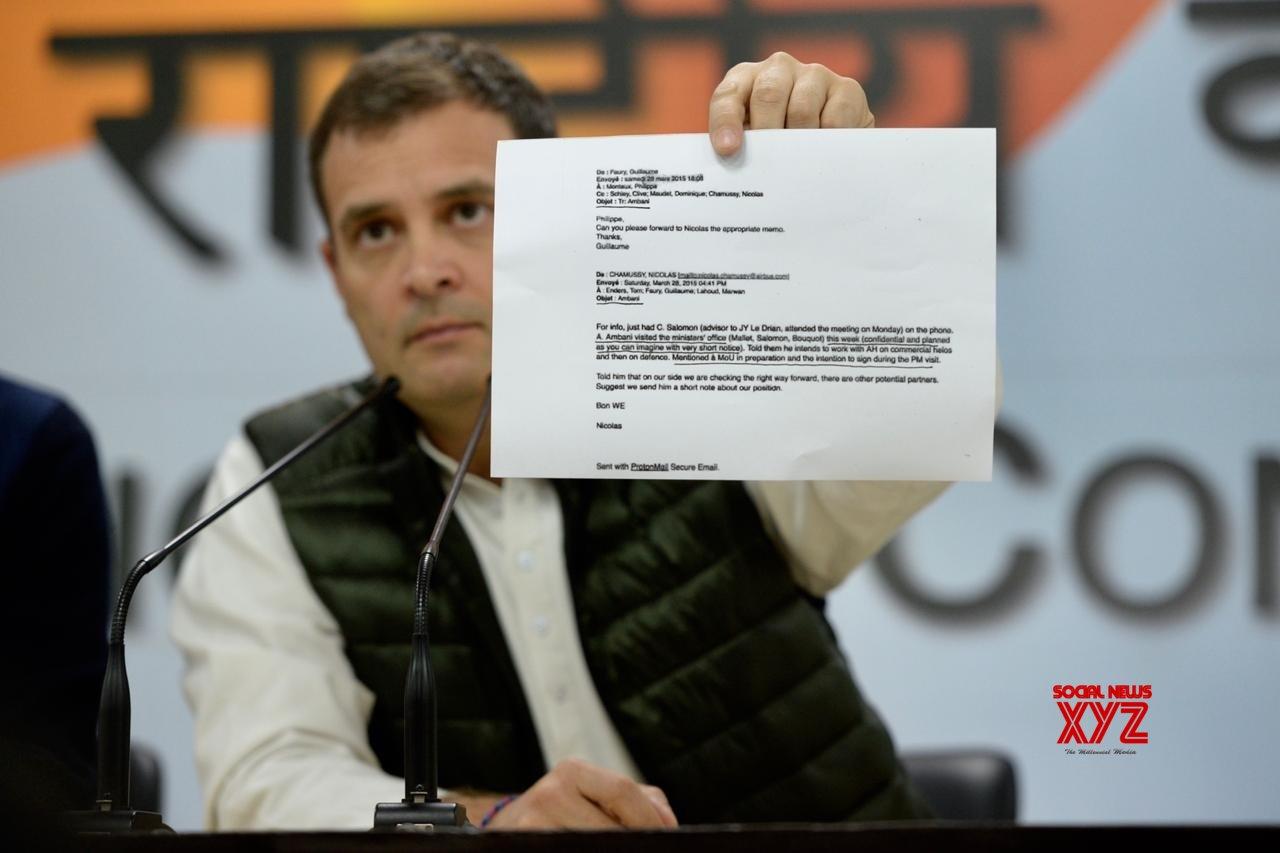 New Delhi: Rahul Gandhi addressing media #Gallery