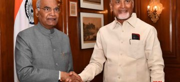 New Delhi: Andhra Pradesh Chief Minister N. Chandrababu Naidu calls on President Ram Nath Kovind at Rashtrapati Bhawan in New Delhi, on Feb 12, 2019. (Photo: IANS/RB)