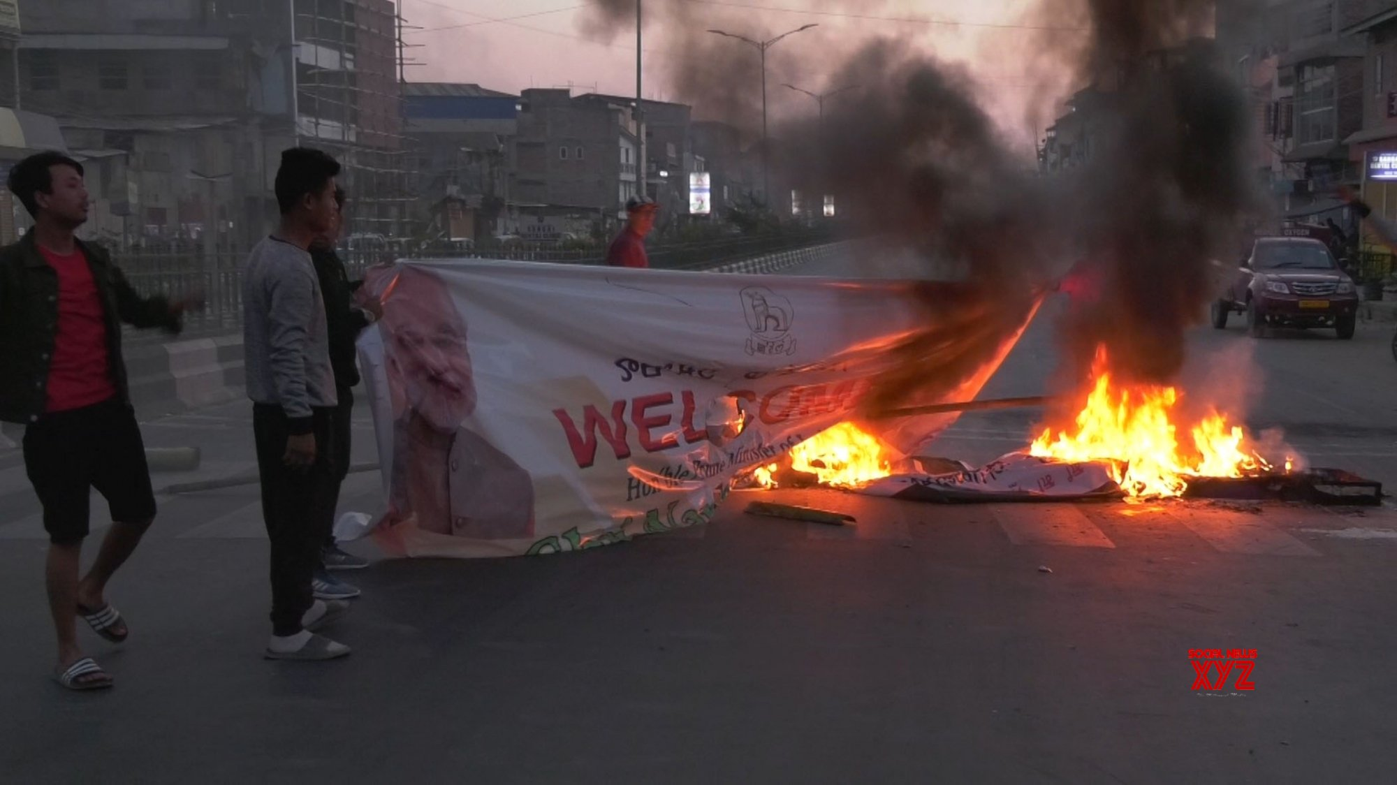 Imphal: Protesters defy curfew to protest against Citizenship Bill #Gallery