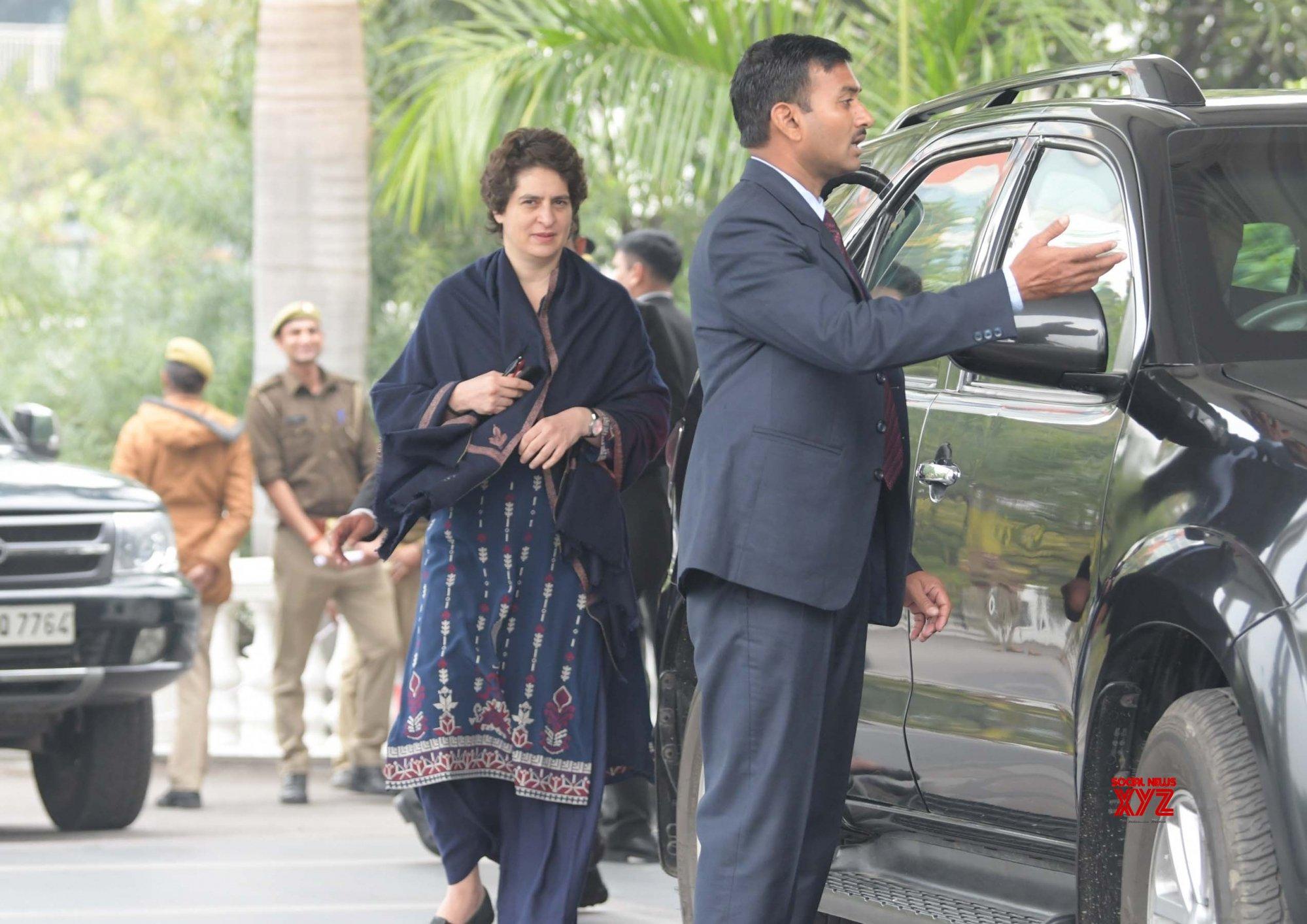 New Delhi: Priyanka Gandhi Vadra at Congress office #Gallery