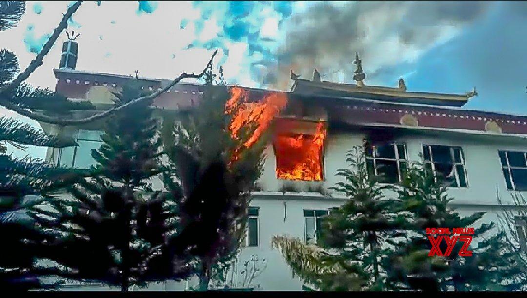 Kullu: Major fire at Buddhist monastery in Himachal #Gallery
