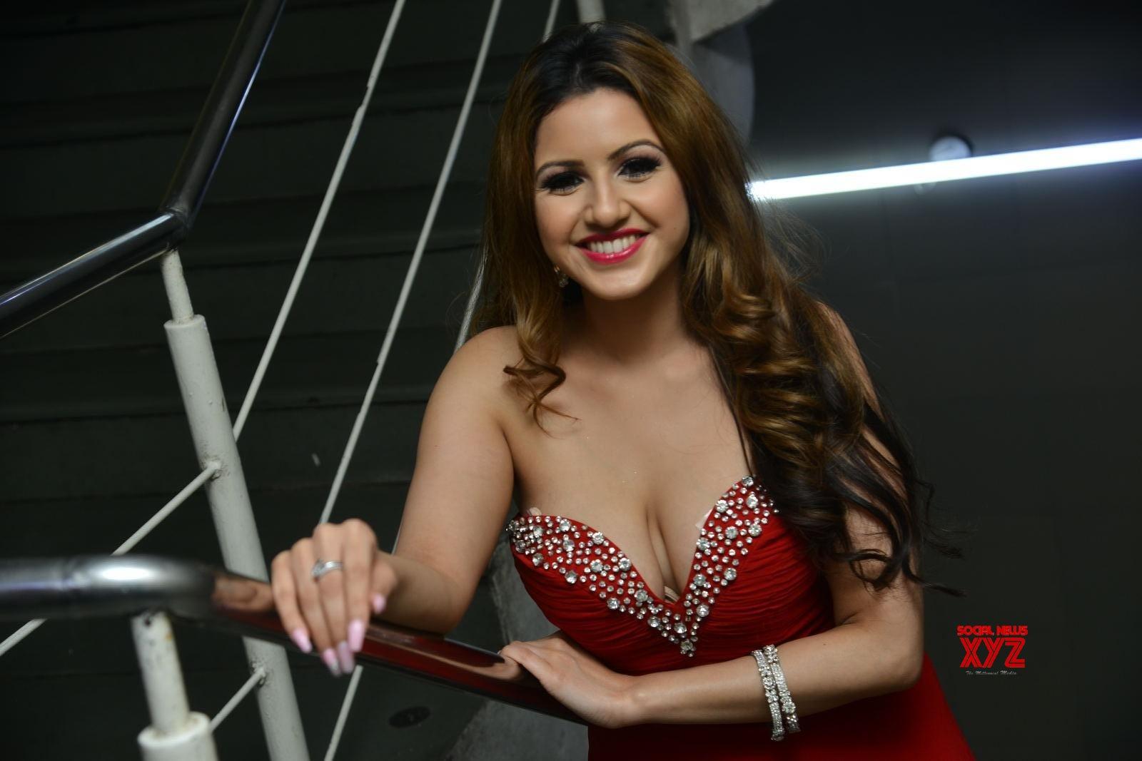 Actress Karishma Hot Stills From Manasa Vaacha Movie Press Meet