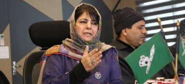 Srinagar: Peoples Democratic Party (PDP) President Mehbooba Mufti addresses a press conference in Srinagar on Feb 13, 2019. (Photo: IANS)