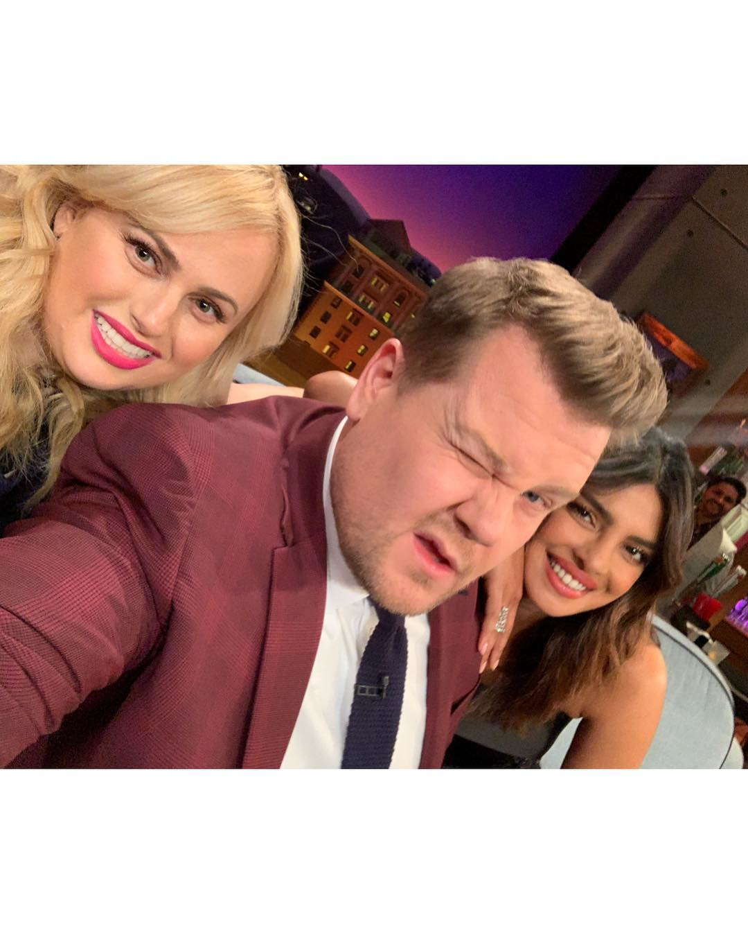 Priyanka Chopra, Rebel Wilson And James Corden Stills From The Late Late Show