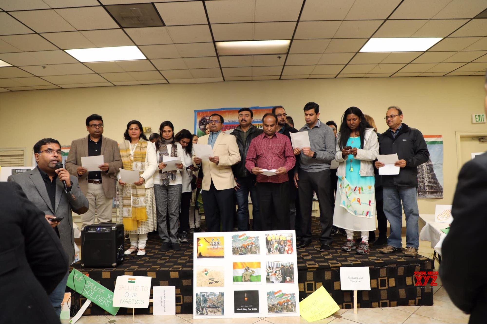 Candlelight Vigil held in Sacramento California to pay honor to the Pulwama terrorist attack victims