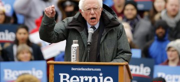 NEW YORK, March 2, 2019 (Xinhua) -- U.S. Senator Bernie Sanders speaks during his first presidential campaign rally in Brooklyn College, New York, the United States, March 2, 2019. U.S. Senator Bernie Sanders kicked off his 2020 presidential campaign as a second-time runner on Saturday in his hometown borough of Brooklyn, New York, reiterating his Democratic socialist views that have been reshaping the Democratic Party. (Xinhua/Li Muzi/IANS)