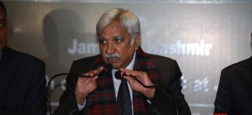 Jammu: Chief Election Commissioner Sunil Arora addresses a press conference in Jammu on March 5, 2019. (Photo: IANS)