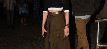 "Mumbai: Actress Sanya Malhotra at the screening of her upcoming film ""Photograph"" in Mumbai, on March 12, 2019. (Photo: IANS)"