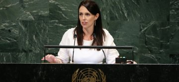 UNITED NATIONS, Sept. 28, 2018 (Xinhua) -- New Zealand Prime Minister Jacinda Ardern addresses the General Debate of the 73rd session of the United Nations General Assembly at the UN headquarters in New York on Sept. 27, 2018. (Xinhua/Qin Lang/IANS)