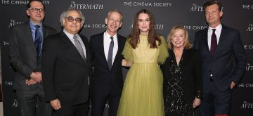 """- New York, NY - 3/13/19 - Fox Searchlight Pictures' Host a Special NY Screening of """"THE AFTERMATH"""". -Pictured: Jack Arbuthnott, Stephen Gilula, James Kent (Director), Keira Knightley, Nancy Utley and Malte Grunert-Photo by: Kristina Bumphrey/StarPix-Location: The Whitby Hotel"""