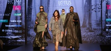 New Delhi: Fashion designer Nikita Mhaisalkar on the second day of Lotus India Fashion Week in New Delhi, on March 14, 2019. (Photo: Amlan Paliwal/IANS)