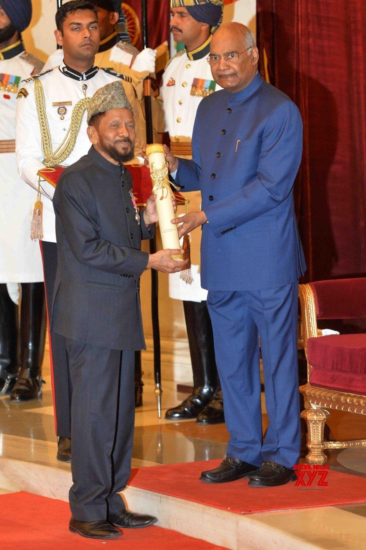 New Delhi: President Kovind presents Padma Awards - Mohammad Hanif Khan Shastri #Gallery