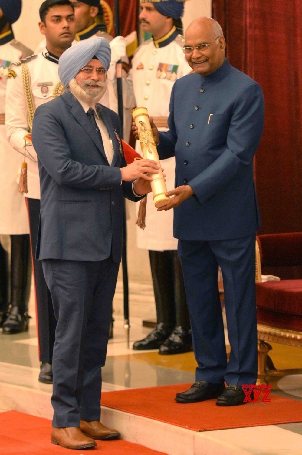 New Delhi: President Kovind presents Padma Awards - Harvinder Singh Phoolka #Gallery