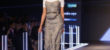 New Delhi:  A model showcases a creation of fashion designer Namrata Joshipura on the third day of Lotus India Fashion Week in New Delhi, on March 15, 2019. (Photo: Amlan Paliwal/ IANS)
