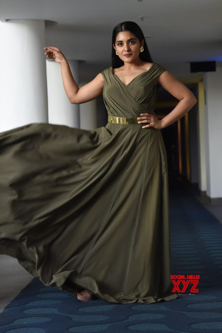 Actress Nivetha Thomas Stills From 118 Movie Grand Success Meet