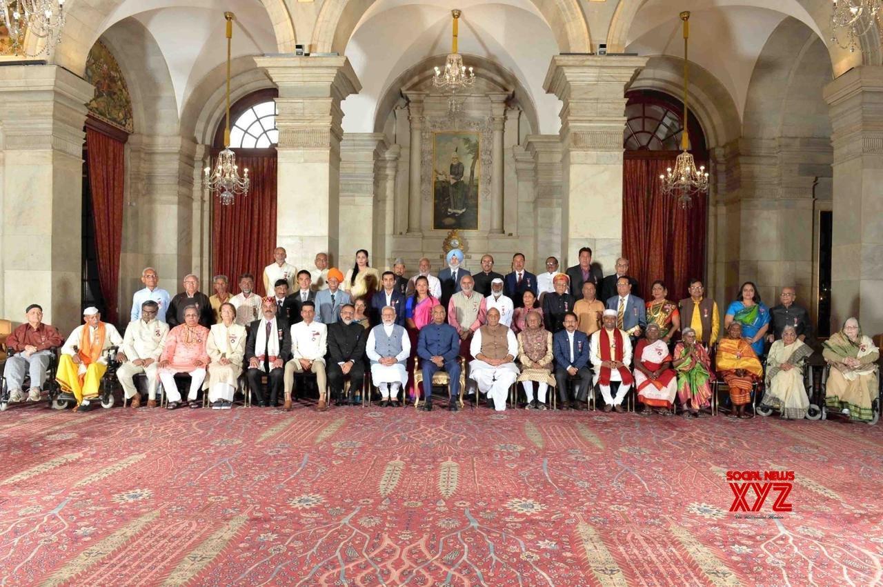 President Shri Ramnath Kovind Presents Padma Shri To Shri Sirivennela Seetharama Sastry - Gallery