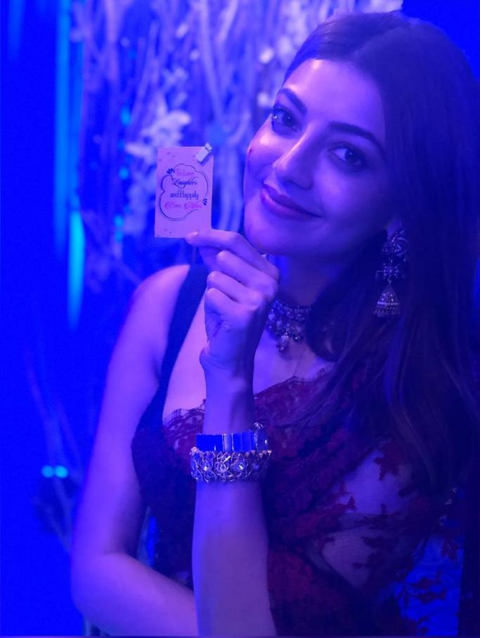 Actress Kajal Aggarwal Stills From Friends Wedding Bash