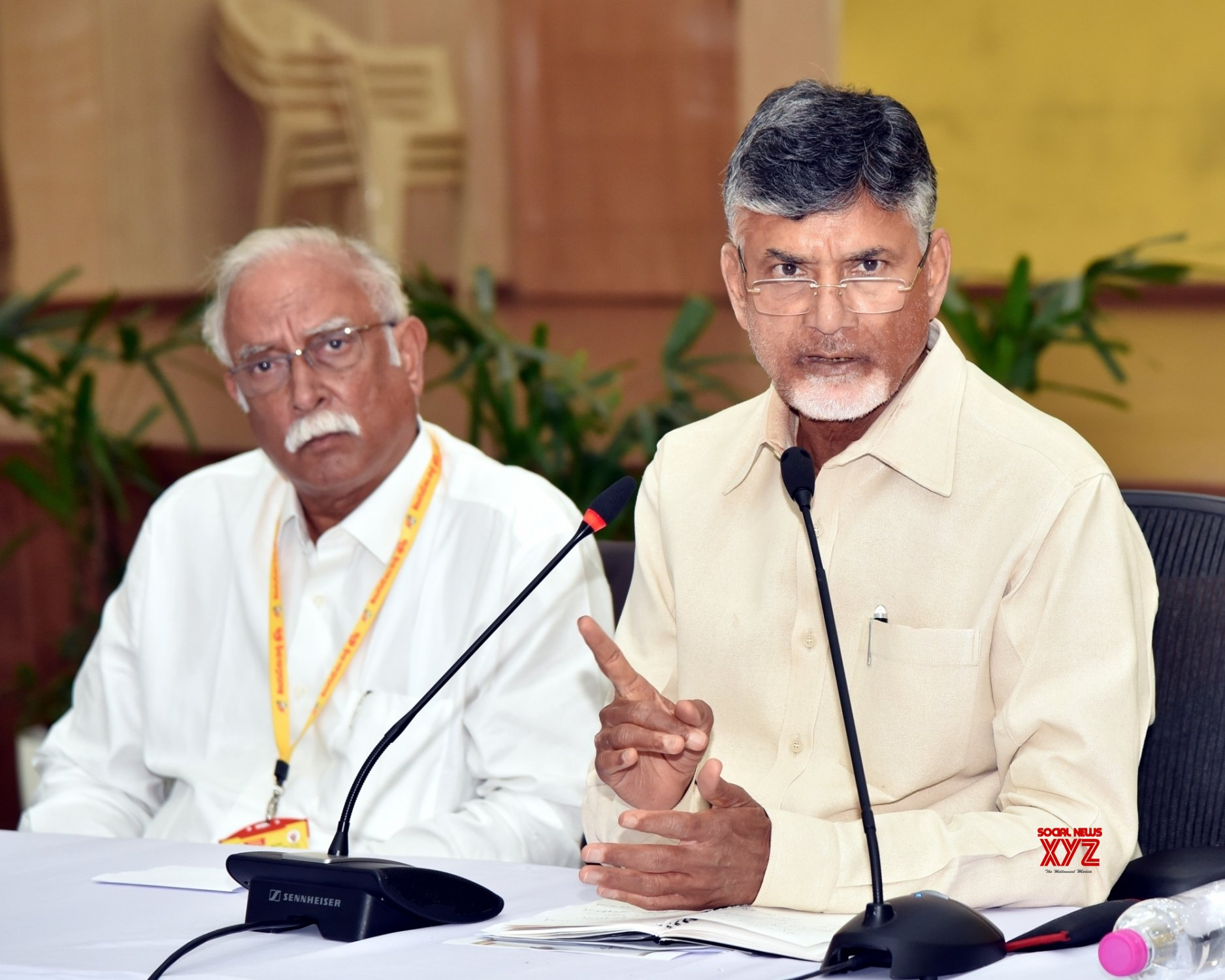 Amaravati: Chandrababu Naidu's press conference #Gallery