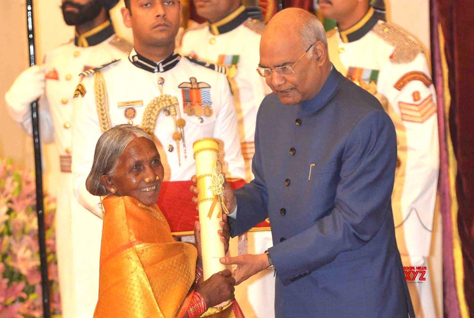 New Delhi: President Kovind presents Padma Awards - Kamala Pujhari (Batch 3) #Gallery