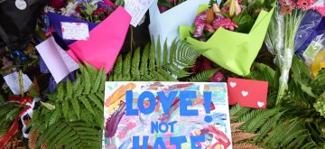 CHRISTCHURCH, March 16, 2019 (Xinhua) -- Photo taken on March 16, 2019 shows cards and flowers people placed to mourn the victims of the attacks on two mosques in Christchurch, New Zealand. It was revealed that a 28-year-old Australian man, Brenton Tarrant, conducted terrorist attacks targeting mosques in Christchurch and later was arrested by New Zealand Police. At least 49 people were killed and 48 are hospitalized now. (Xinhua/Guo Lei/IANS)