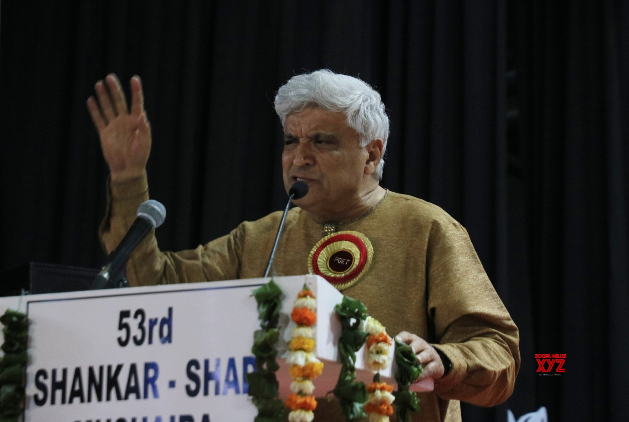 New Delhi: Javed Akhtar during a 'mushaira' #Gallery