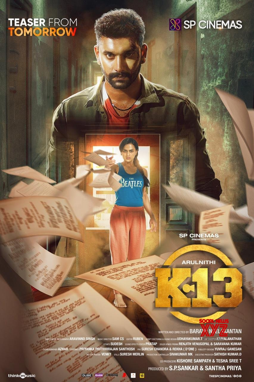 Arulnidhi And Shraddha Srinath's K13 Movie Teaser Will Be Up Tomorrow