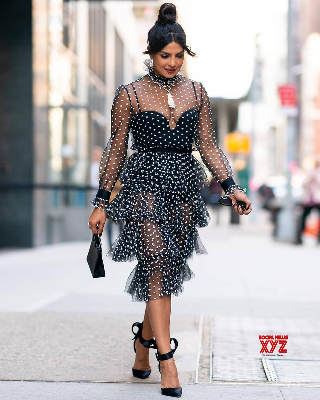 Actress Priyanka Chopra Hot Stills In A See Through Dress -8190