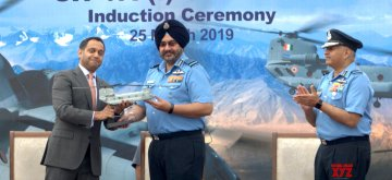 Chandigarh: Chief of the Air Staff, Air Chief Marshal B.S. Dhanoa during the induction ceremony of CH 47 F(I)- Chinook heavy lift helicopters into IAF inventory at Air Force Station in Chandigarh, on March 25, 2019. (Photo: IANS)