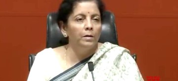 New Delhi: Defence Minister Nirmala Sitharaman addresses a press conference, in New Delhi, on March 27, 2019. (Photo: IANS)