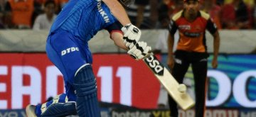 Hyderabad: Delhi Capitals' Colin Munro in action during the 30th match of IPL 2019 between Sunrisers Hyderabad and Delhi Capitals at Rajiv Gandhi International Stadium in Hyderabad on April 14, 2019. (Photo: IANS)