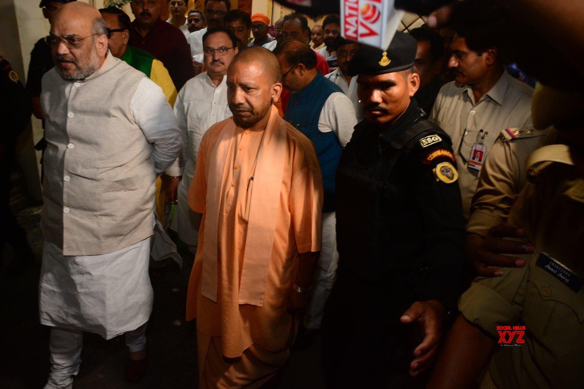 EC ban on: Yogi lands in Ayodhya temple, meets saints