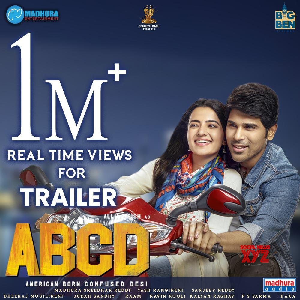 ABCD Movie Trailer Gets 1 Million Real Time Views
