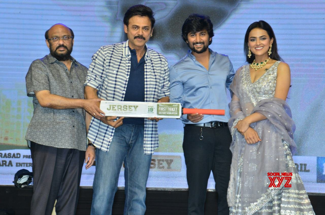 Nani's Jersey movie pre-release event held with Venkatesh as chief guest