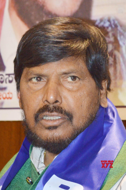 Bengaluru: Ramdas Athawale's press conference #Gallery