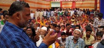 Madhepura: Jan Adhikar Party leader and Independent Lok Sabha candidate from Madhepura, Pappu Yadav addresses a gathering during an election campaign for the forthcoming Lok Sabha polls, in Bihar's Madhepura, on April 16, 2019. (Photo: IANS)