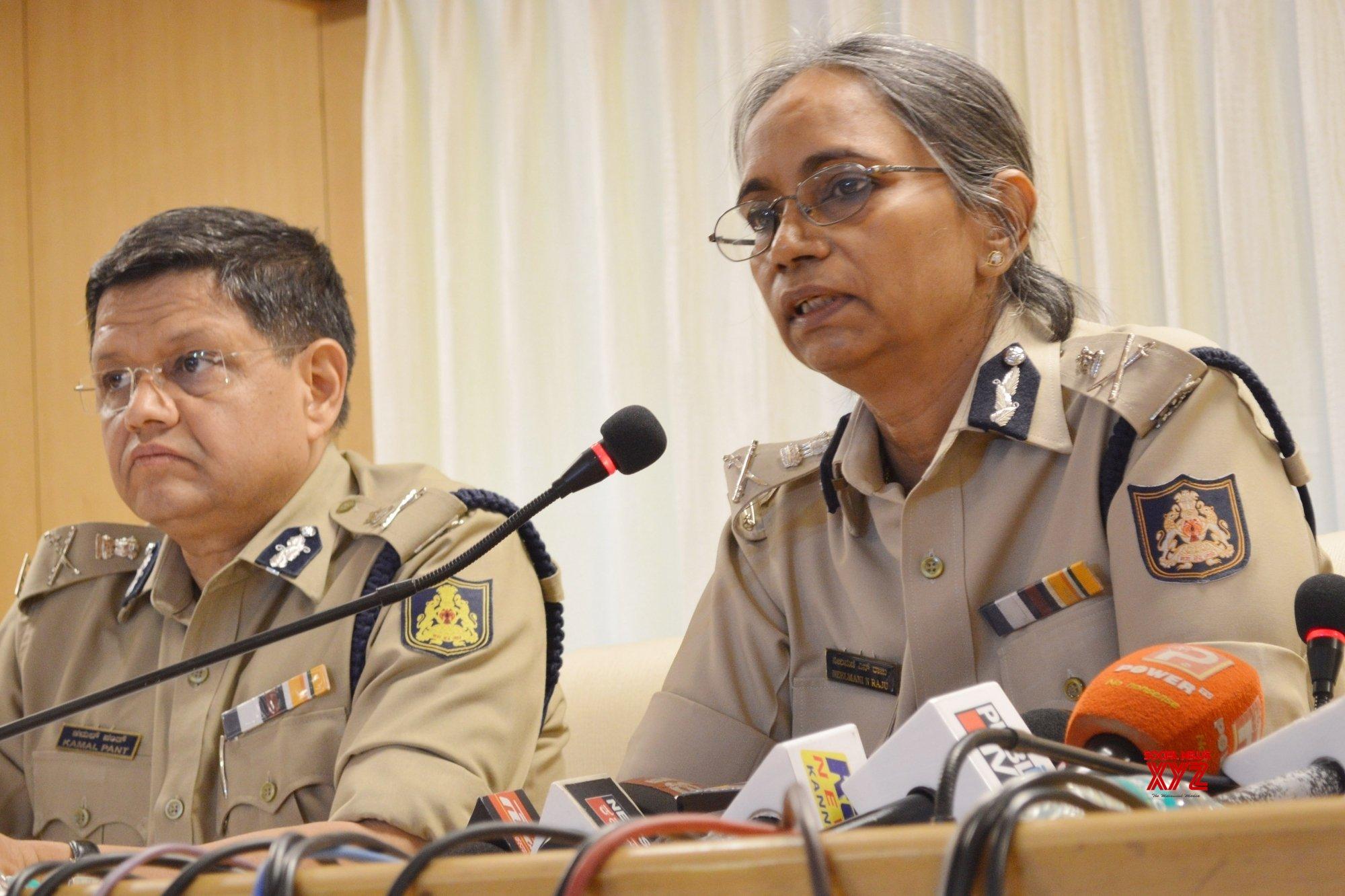 Bengaluru: Karnataka DGP - IGP Neelamani Raju's press conference #Gallery